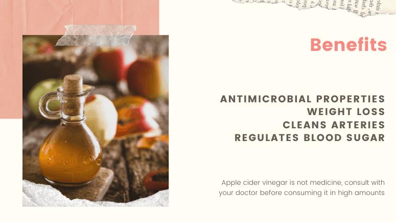 4 Benefits of apple cider vinegar summary of the blog