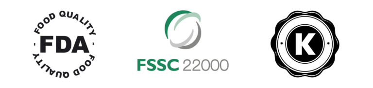 FDA, FSSC 22000, Kosher Certifications