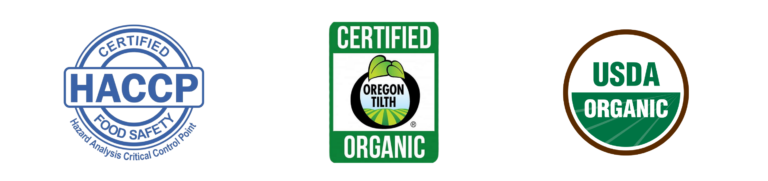 HACCP, Oregon Tilth, USDA Organic Certifications