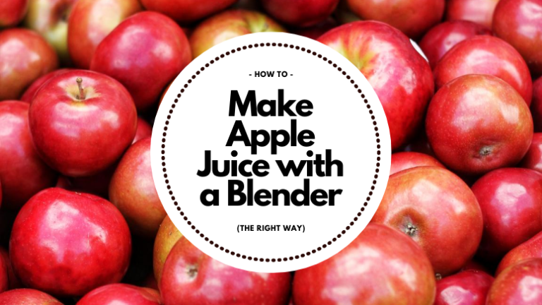 How to make apple juice with a blender cover photo apples in background