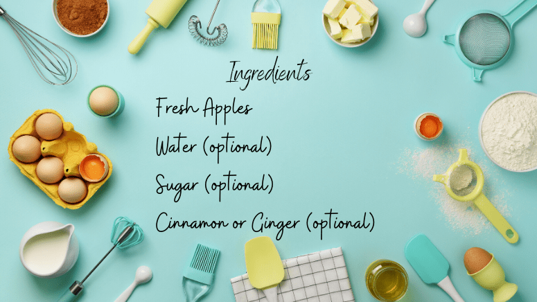 ingredients to make apple juice with a blender